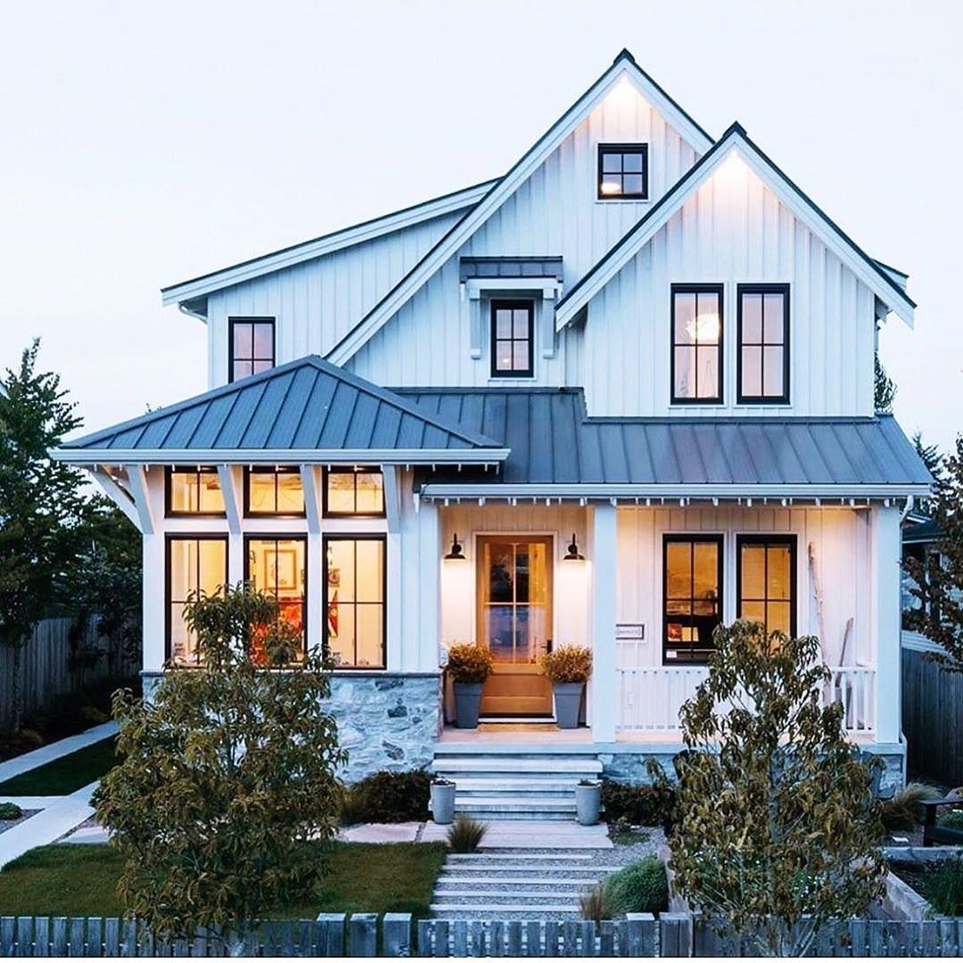 Farm House Exterior Ideas White Siding Board And Batten Siding Blog
